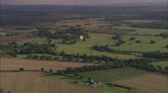 AERIAL United Kingdom-Claydon House Stock Footage