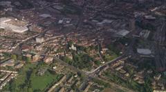 AERIAL United Kingdom-Aylesbury Stock Footage