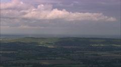 AERIAL United Kingdom-Chiltern Ridge By M40 Cut Stock Footage