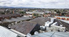 Dublin from the observation deck of Guinness Storehouse - stock photo