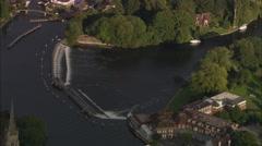 AERIAL United Kingdom-Bisham Abbey Stock Footage