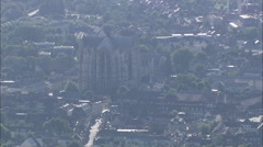AERIAL France-Beauvais And Cathedral Stock Footage