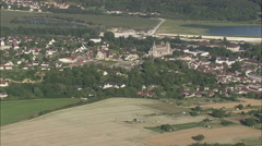 AERIAL France-Saint-Leu-D'Esserent Stock Footage