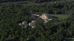 AERIAL France-Chateau Les Fontaines Stock Footage