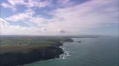 AERIAL United Kingdom-Coast Around Portreath Beach Stock Footage