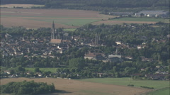 AERIAL France-Senlis Stock Footage
