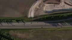 AERIAL France-A4 Motorway Stock Footage