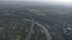 AERIAL France-A4 Motorway Stock Footage