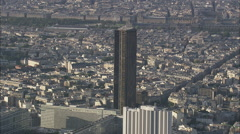 AERIAL France-Montparnasse Tower Stock Footage