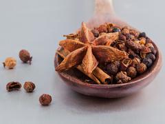 Thai food Cooking ingredients. - spice tast Stock Photos