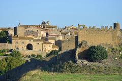 Historic centre Centro Storico Tuscania Viterbo Lazio Italy Europe - stock photo