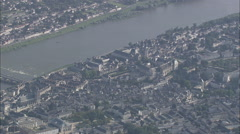 AERIAL France-River Loire Stock Footage