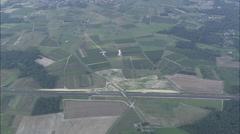 AERIAL France-Flight Over Charente Farmland Stock Footage