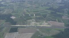 AERIAL France-Flight Over Charente Farmland Stock Footage