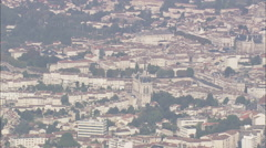 AERIAL France-Angouleme Stock Footage
