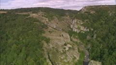 AERIAL United Kingdom-Cheddar Gorge - stock footage