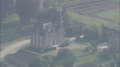 AERIAL France-Chateau At Beychac-Et-Caillau Stock Footage
