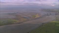 AERIAL United Kingdom-Burnham-On-Sea And River Parrett Stock Footage