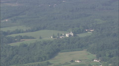 AERIAL France-Ch__Teau De Montesquieu Stock Footage