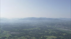 AERIAL France-Pyrenees In Distance Stock Footage
