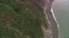 AERIAL United Kingdom-Dunster Castle Stock Footage