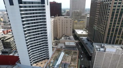 aerial view traveling from Canal Street on St. Charles downtown New Orleans - stock footage