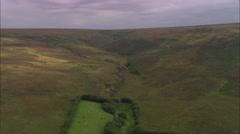 AERIAL United Kingdom-Exmoor Stock Footage