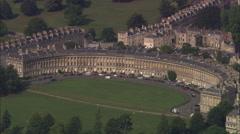 AERIAL United Kingdom-Bath Stock Footage