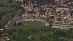 AERIAL United Kingdom-Bath And Royal Crescent - stock footage