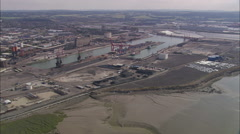 AERIAL United Kingdom-Avonmouth And Avon Gorge Stock Footage