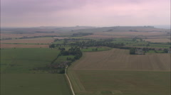 AERIAL United Kingdom-Silbury Hill Stock Footage