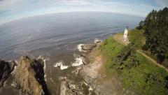Backing Away from Heceta Head - stock footage