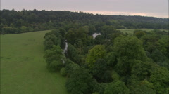 AERIAL United Kingdom-Up Thames To Cliveden Stock Footage