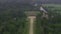 AERIAL United Kingdom-Cliveden Stock Footage