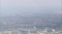 AERIAL Spain-Rising Over Mountain Ridge Past Lagran Stock Footage