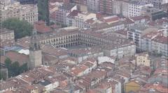 AERIAL Spain-Plaza Espana Vitoria Stock Footage