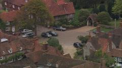 AERIAL United Kingdom-Hambledon Stock Footage