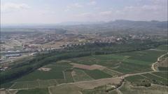 AERIAL Spain-Passing Haro Stock Footage