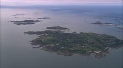 AERIAL United Kingdom-St Mary's Island Stock Footage