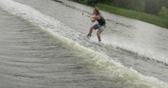 Extreme Sport Wake Boarding - Big Spray Stock Footage
