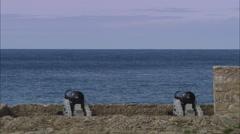 AERIAL United Kingdom-Tresco Island Stock Footage