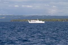 Editorial - Lite Ferry in front of Bohol Island, Philippines Stock Photos