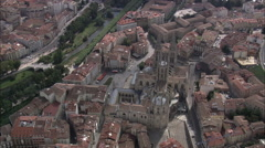 AERIAL Spain-Flight Over Ridges And Valleys Stock Footage