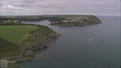 AERIAL United Kingdom-Salcombe Stock Footage