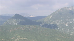 AERIAL Spain-Valderejo Park Stock Footage