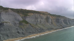 AERIAL United Kingdom-Jurassic Coast Stock Footage