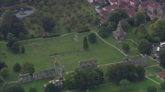 AERIAL United Kingdom-Glastonbury Abbey - stock footage