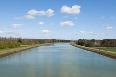 Stock Photo of Federal waterway Elbe Lateral Canal near Stude Lower Saxony Germany Europe