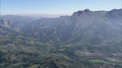 AERIAL Spain-Eastern Edge Of Picos De Europa National Park Stock Footage