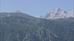 AERIAL Spain-Norther Boundary Of Picos De Europa National Park Stock Footage